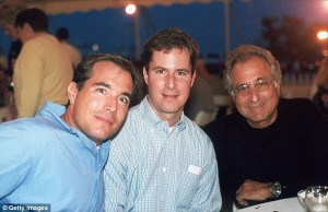 Mastermind Bernie Madoff and his two sons,  Mark, who took his own life on 12/11/2010 and Andrew, who died earlier this week from cancer.